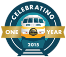 SunRail One Year Logo