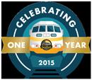 SunRail One Year Logo