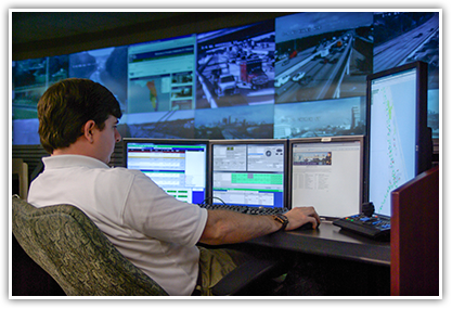 The RTMC is a high-tech facility that monitors traffic and is a key component in our project traffic control plans.