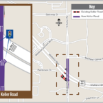 New alignment of Keller Road at Maitland Boulevard opening after weekend closure