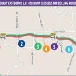 Nightly eastbound SR-408 rolling roadblocks scheduled for April 8-9