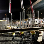Massive Concrete Pour Builds Flyover Piers