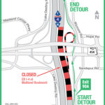 EB I-4 Nighttime Traffic Temporarily Diverted at Maitland Boulevard on November 15-18