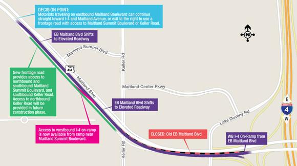EB Maitland Blvd shift map