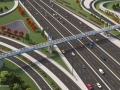 I-4 Ultimate – Maitland Pedestrian bridge overhead (Day)