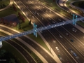 I-4 Ultimate – Maitland Pedestrian bridge overhead (Night)