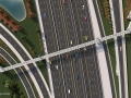 I-4 Ultimate – Maitland Pedestrian bridge birds eye view (Day)