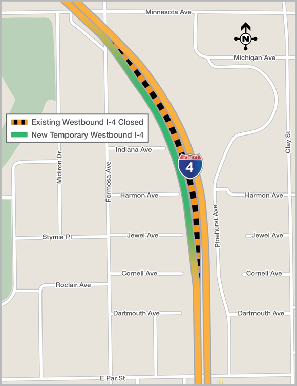 Second major traffic shift planned for westbound I-4 in ... on grand rapids traffic map, newark traffic map, washington traffic map, hawaii traffic map, missouri traffic map, orlando construction, atlanta traffic map, austin traffic map, orlando schools, new york city traffic map, boston traffic map, mississippi traffic map, buffalo traffic map, orlando transportation, la traffic map, orlando toll roads, galveston traffic map, dallas fort worth traffic map, massachusetts traffic map, texas traffic map,