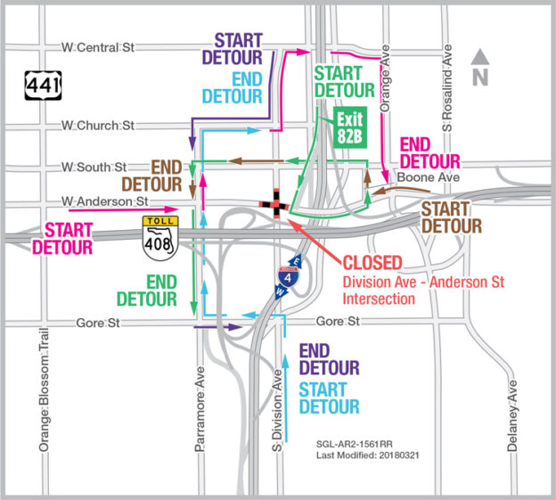 Division Avenue-Anderson Street Intersection Closing Nights of April ...