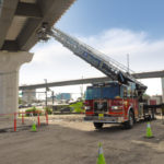 Orlando Firefighters Participate in Rescue Drill on I-4 Flyover Ramp