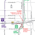 Both Directions of I-4 at S.R. 408 Closing Nights of November 18, 19 and 20