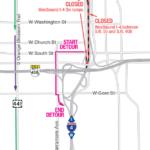WB I-4 through Downtown Orlando closing morning of March 19