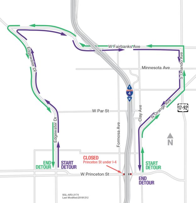 Princeton Minnesota Map.Princeton St Under I 4 Closing Dec 15 17 I 4 Ultimate