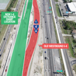 UPDATE: New Westbound I-4 Travel Lanes Near John Young Pkwy. Rescheduled to Open April 5
