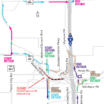 EB Maitland Blvd. Closing at Night on April 10
