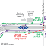 Rio Grande Ave. under I-4 closing continuously June 28-30