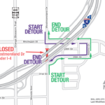 Westmoreland Drive under I-4 continuously closing weekend of July 26