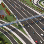 Construction of Redesigned Maitland Pedestrian Bridge Progresses