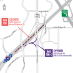 EB I-4 Exit Ramp to Kirkman Road Shifting to Permanent Configuration