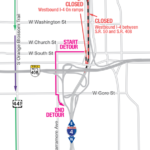 Upcoming Closures for Westbound I-4 through Downtown Orlando
