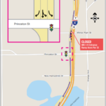 WB I-4 Access Ramp from Par St. Shifts to Temporary Configuration