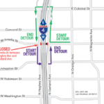 Amelia Street under I-4 Closing Nightly for Two Weeks