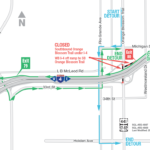 Southbound Orange Blossom Trail under I-4 Closing for Three Nights