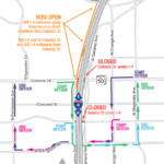 Colonial Drive and Amelia Street under I-4 Closing Weekend of June 26