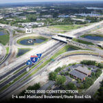Westbound I-4 Shifting to Final Alignment in Maitland