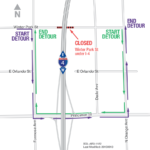 Winter Park Street under I-4 Closing Nightly September 30 to October 4