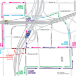Intersection of Division Avenue and Gore Street Closing Weekend of January 15