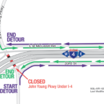 John Young Parkway under I-4 Closing Nightly February 15 – March 1