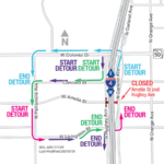 Hughey Avenue Intersection at Amelia Street Closing Weekend of July 9